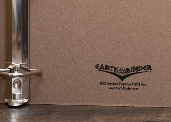 EarthBinder Inside Cover Logo Print Detail
