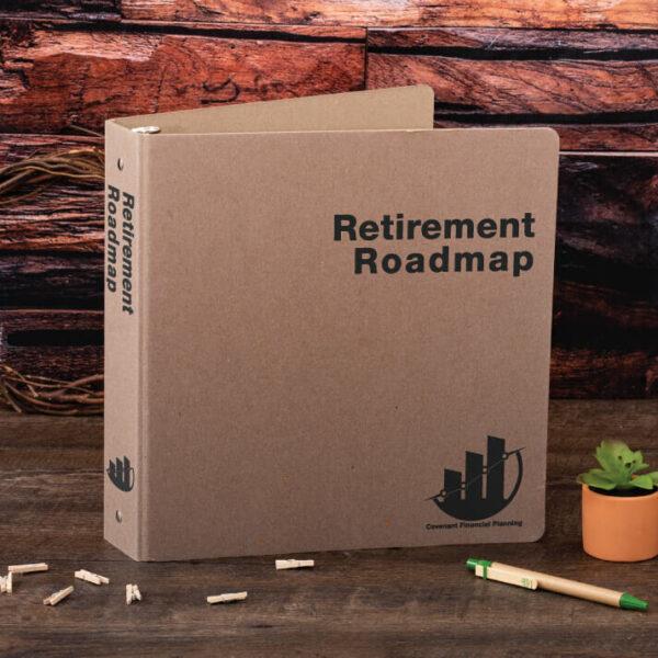 Sample Silk Screen Print EarthBinder - Retirement Roadmap