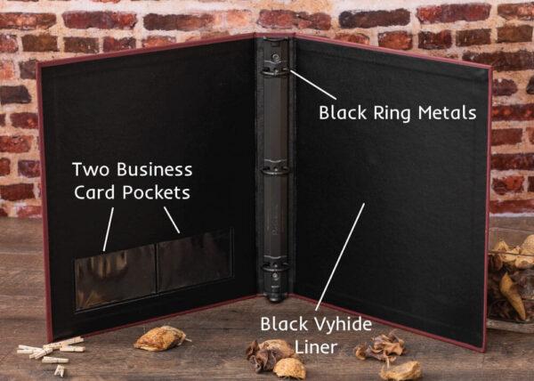 Cloth Financial Binders - Interior Features