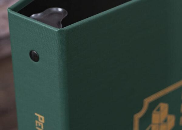 Arrestox-Green-Personal Financial Inventory-Corner Detail