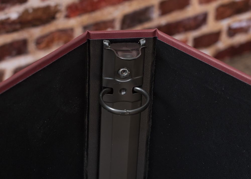 Cloth Cover Binder - Burgundy - Interior Spine Detail