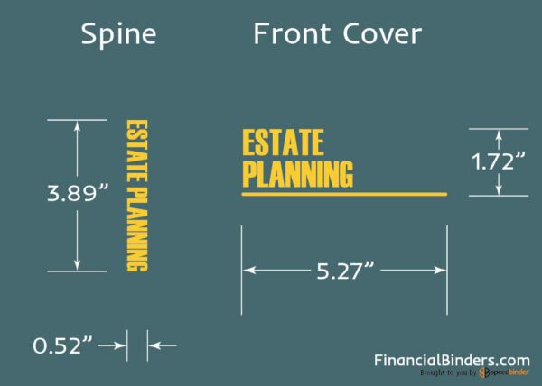 Foil Stamp Dimensions - Estate Planning