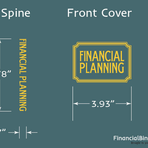 Foil Stamp Dimensions - Financial Planning