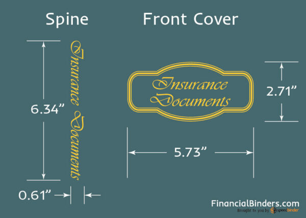 Foil Stamp Dimensions - Insurance Documents
