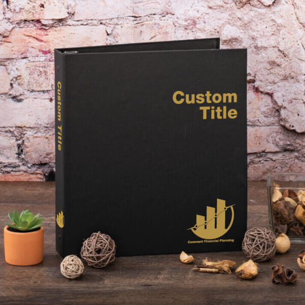 Example Custom Cloth Binder - Covenant Financial
