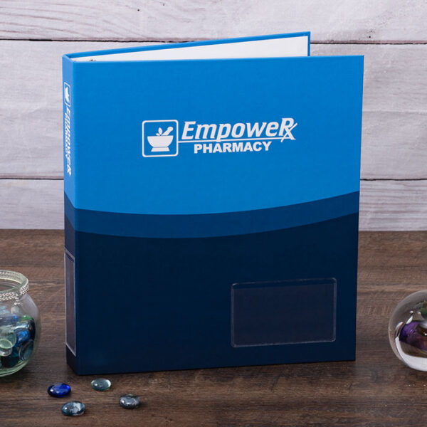 Example Full Color Turned Edge Binder - EmpowerRx