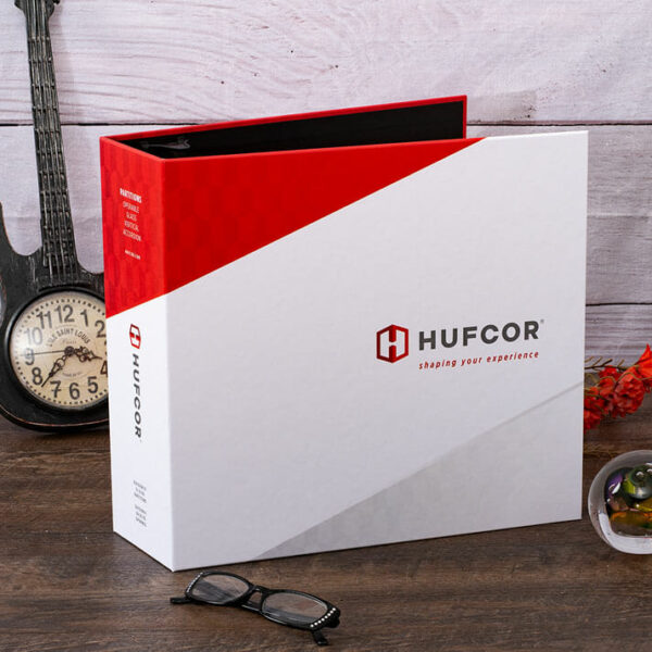 Example Full Color Turned Edge Binder - Hufcor