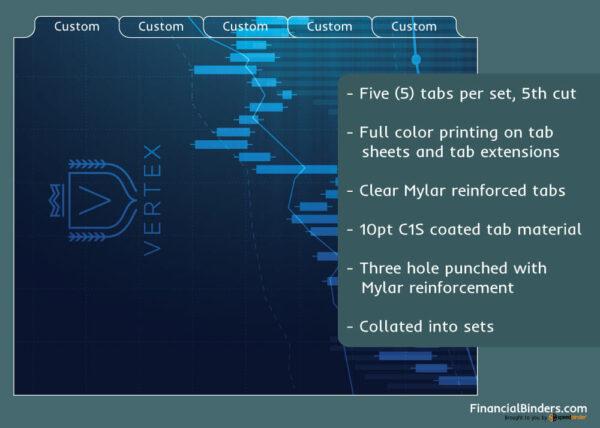 Full Color Custom Index Tabs - Five Tabs Per Set