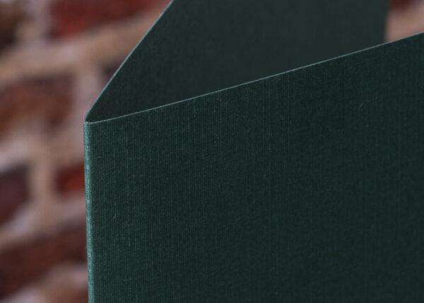 Custom Linen Pocket Folders - Detail - Green
