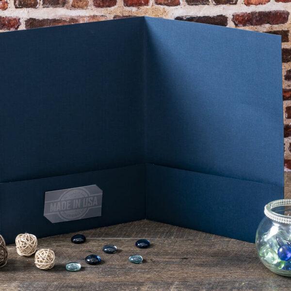 Custom Pocket Folder - Interior Detail - Blue