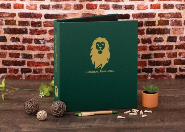 Example Custom Cloth Binder - Lionhead Financial