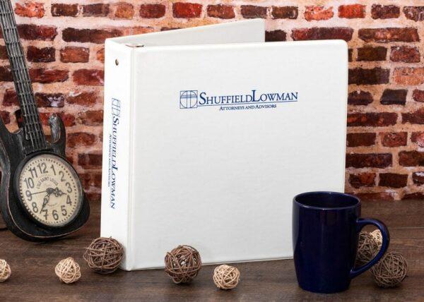 Sample Silk Screen Print Vinyl Binder - Shuffield Lowman