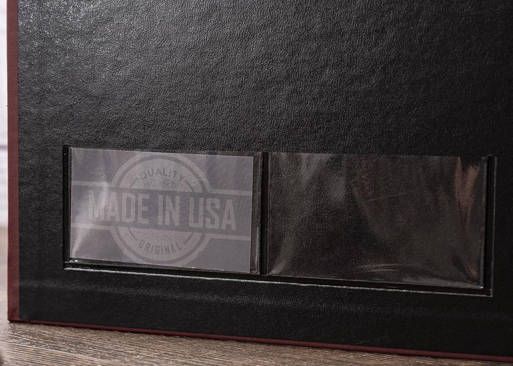 Custom Binder Business Card Pocket Detail