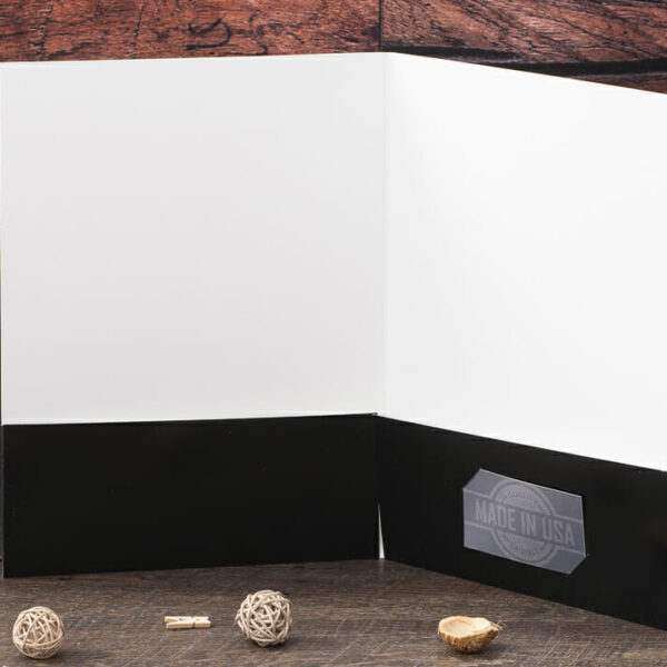 Custom Pocket Folder - Custom Cover - Black - Interior