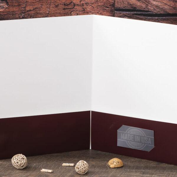Custom Pocket Folder - Custom Cover - Burgundy - Interior