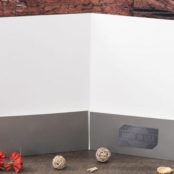 Custom Pocket Folder - Custom Cover - Silver - Interior