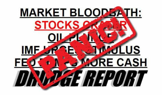 Panic Stock Market Reaction